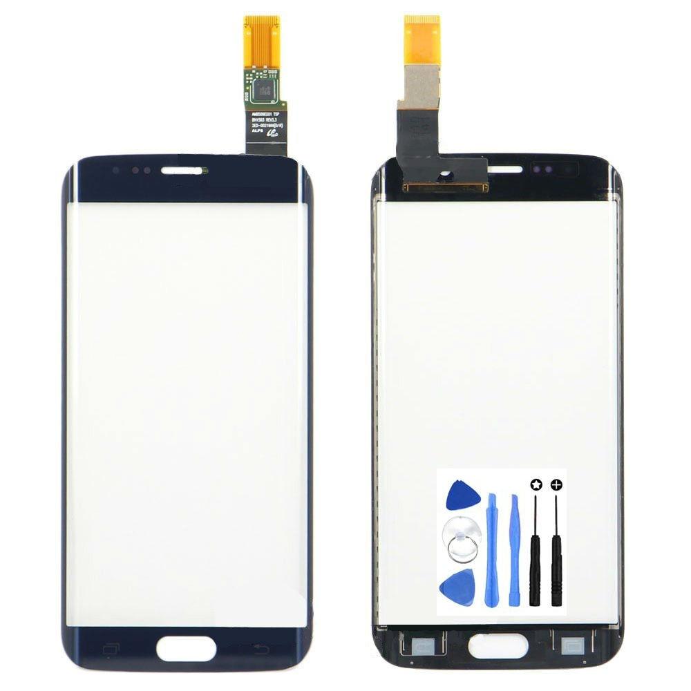 Envío Libre Digitalizador de Pantalla Táctil para Samsung Galaxy S6 Edge G925 G9250 G925F Táctil Sensor de Reemplazo de Cristal Del Panel