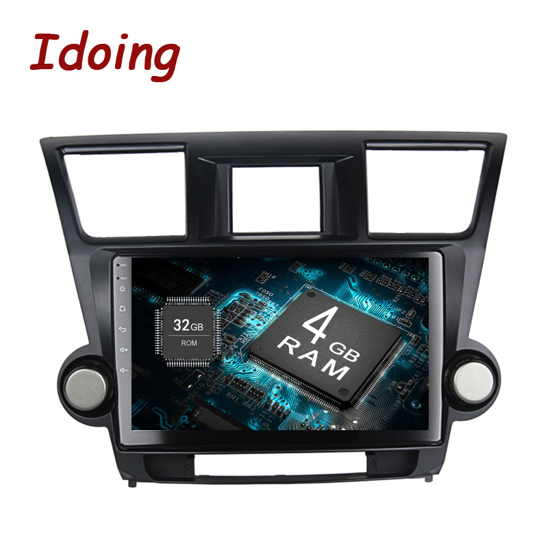 Idoing 2Din10.2 4GB+32GB 8Core Car GPS Player For Toyota Highlander Android8.0/7.1 Steering-Wheel Navigation Fast Boot NO DVD