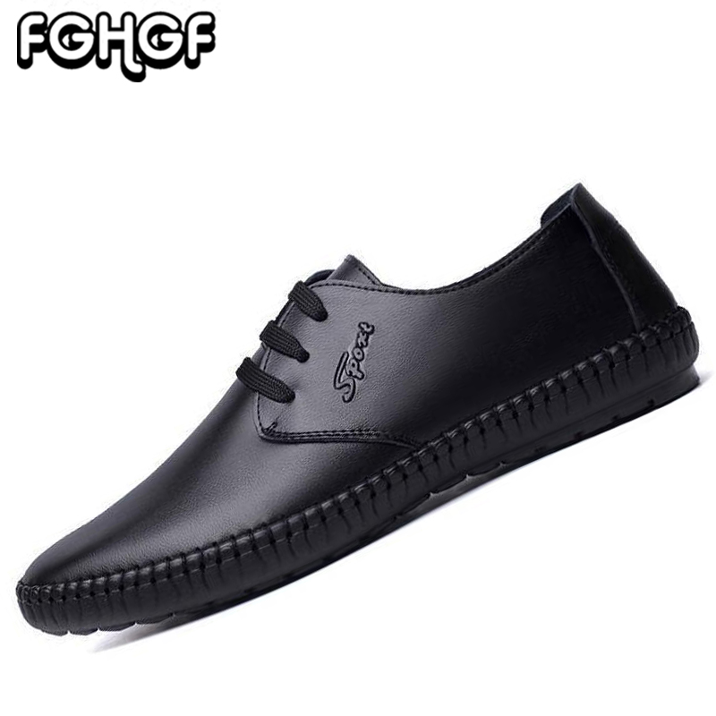 bf6500fb01c3cb Classique black Cuir En Up Chaussure Casual Souples brown Black Designer  Mocassin Plat Sur Up Y191 ...