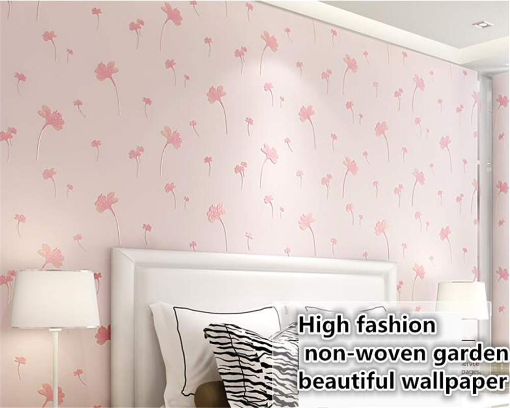 beibehang Idyllic romantic non-woven classic 3D stereo wallpaper bedroom living room background wall wallpaper for walls 3 d free shipping hepburn classic black and white photographs women s clothing store cafe background mural non woven wallpaper