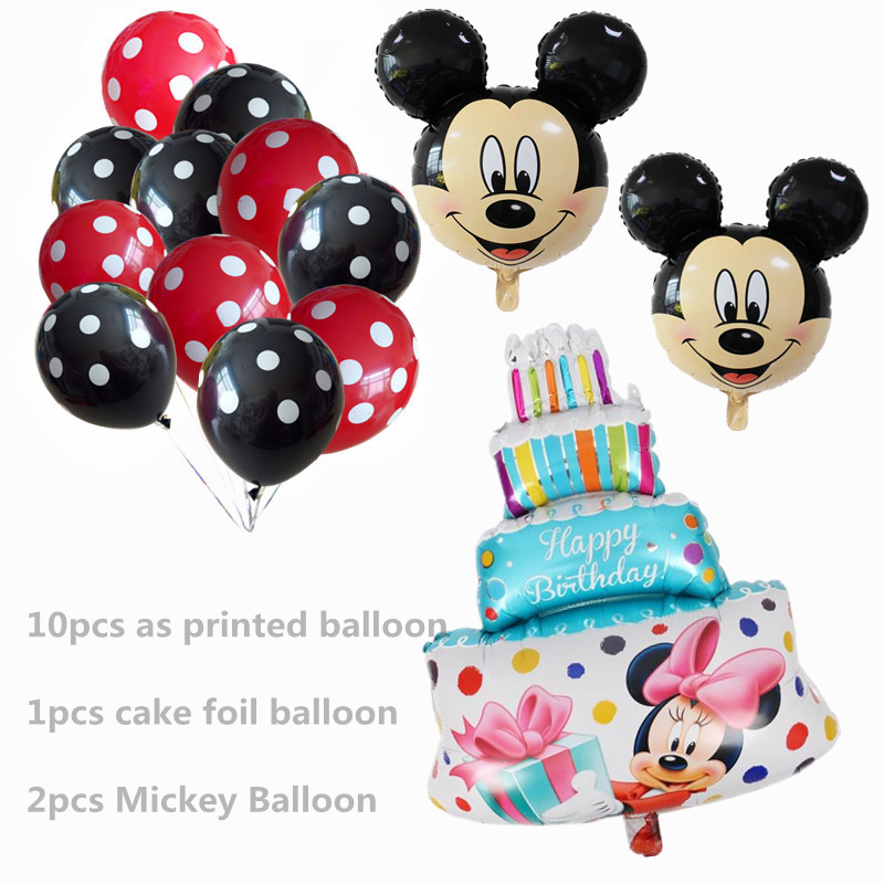 13Pcs Blue Boy Girl Balloons Mickey Mouse Party Decorations Cake Ballon Birthday Baby Shower Helium Dot Latex Balloon Kids Toy in Ballons Accessories from Home Garden