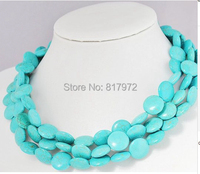 Charm New Arrival Fashionable Multilayer stone Round Slice Necklace Choker Necklace Stone Jewelry 3 layer