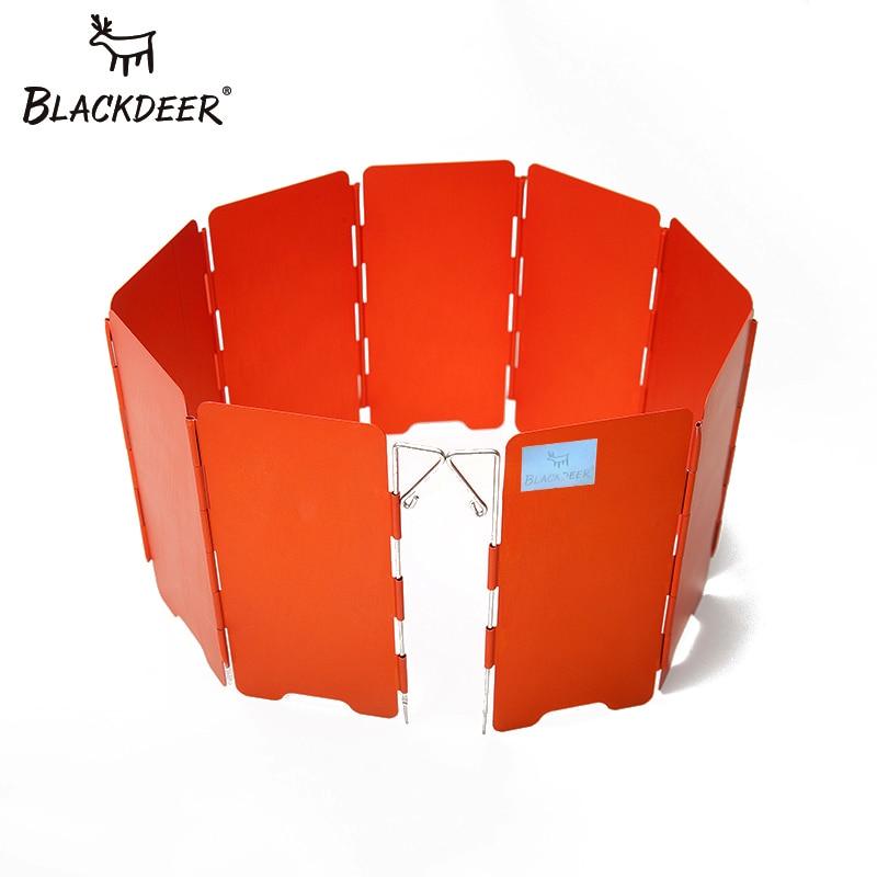 Газовая плита BLACKDEER для кемпинга, ветрозащитный щит, складной анодированный алюминий, ветрозащитная верхняя Складная 9 тарелок с сумкой для ...