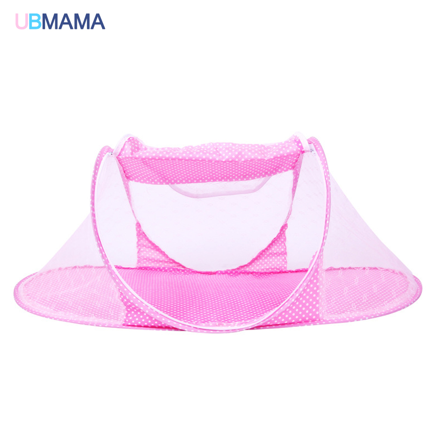 With Netting Foldable Portable Do Not Install Game Beds Simple Anti-dust Boy Girl Red Blue Crib Baby Bed For 0-12M 110*60*38cm