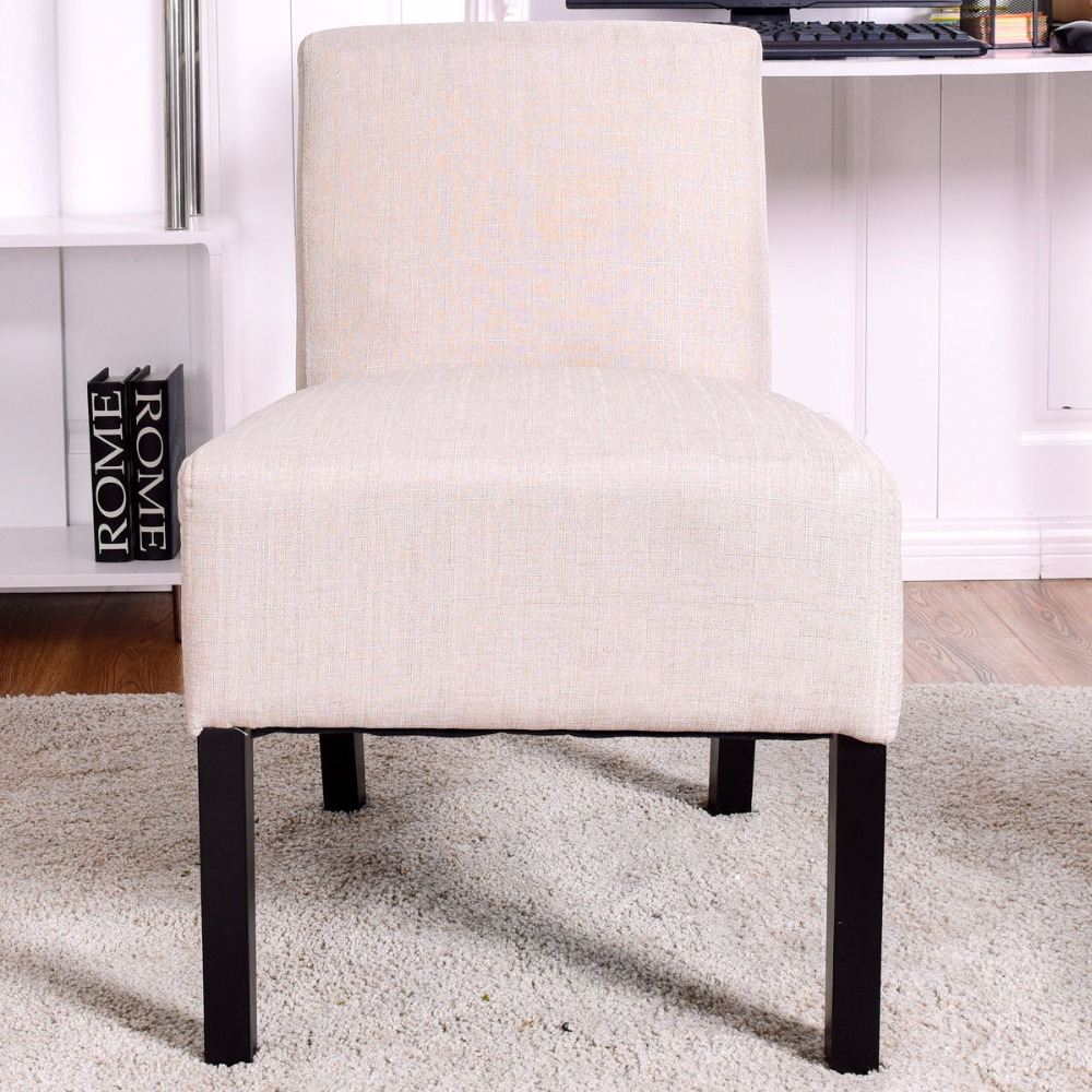 Giantex Armless Contemporary Dining Chair Upholstered Seat Furniture Beige Living Room Furniture HW57103 desire sport духи с феромонами 8 мл для мужчин древесный
