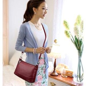 Image 2 - 2020 Women Messenger Bags Small Crossbody Bags For Women Leather Shoulder Bag Female Handbags High Quality Vintage Shell Bag New