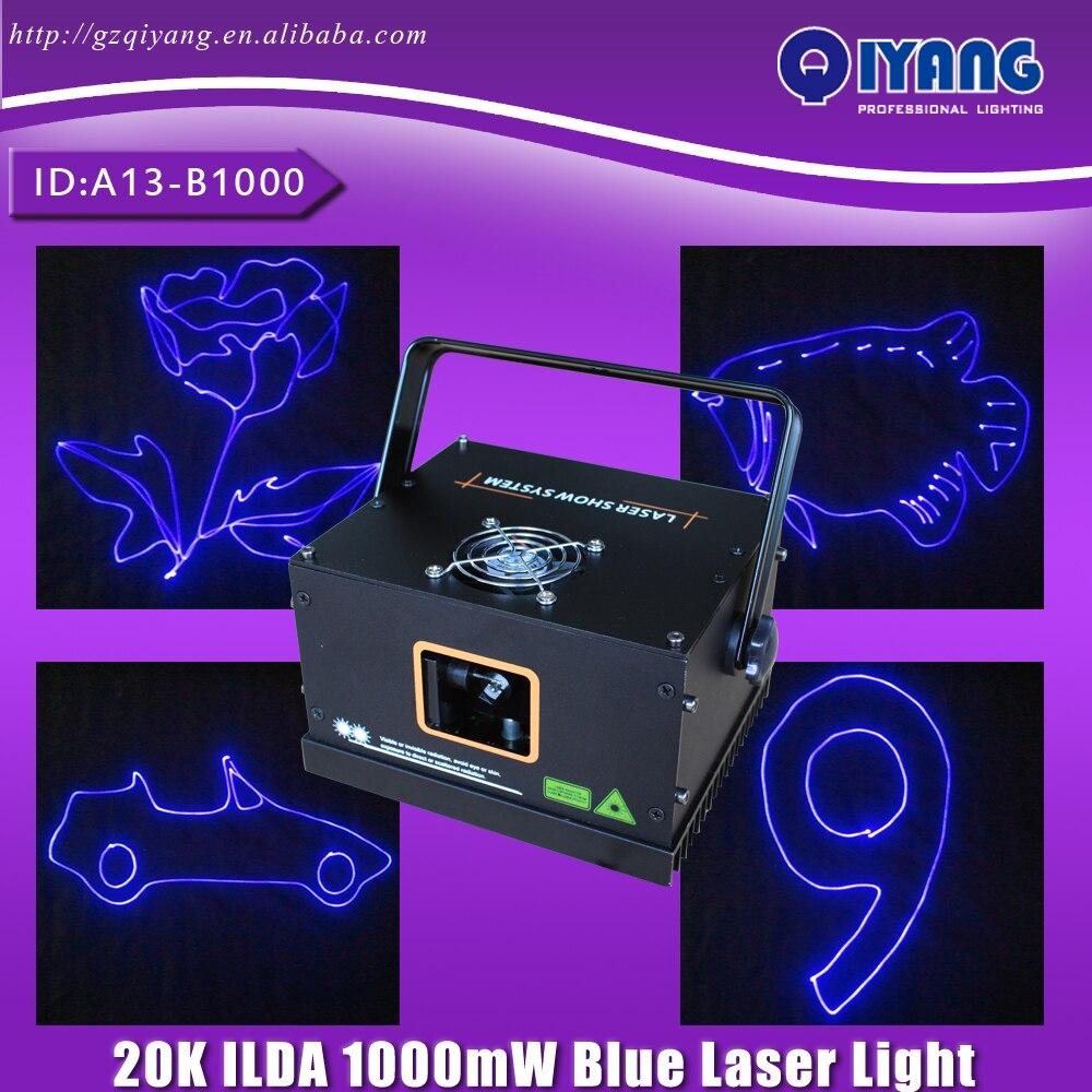 Freeboss A13-B1000 1000mW Ilda Blue Laser Stage Lighting Effect Laser Projector DJ Disco Lights imlight linea stage 1000
