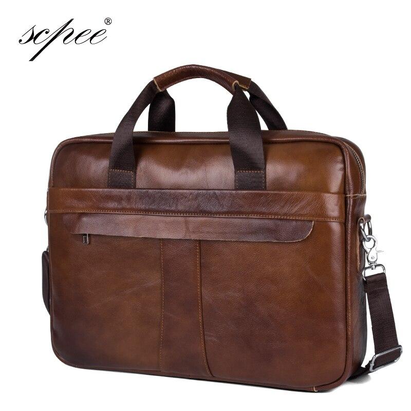 SCPEE New Men s Casual font b Leather b font Bag font b Handbag b font