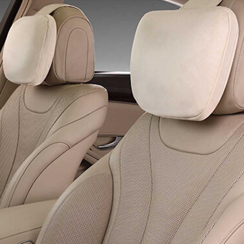 2x бежевый подголовник автомобиля Maybach дизайн S класс мягкая подушка для Mercedes Универсальный