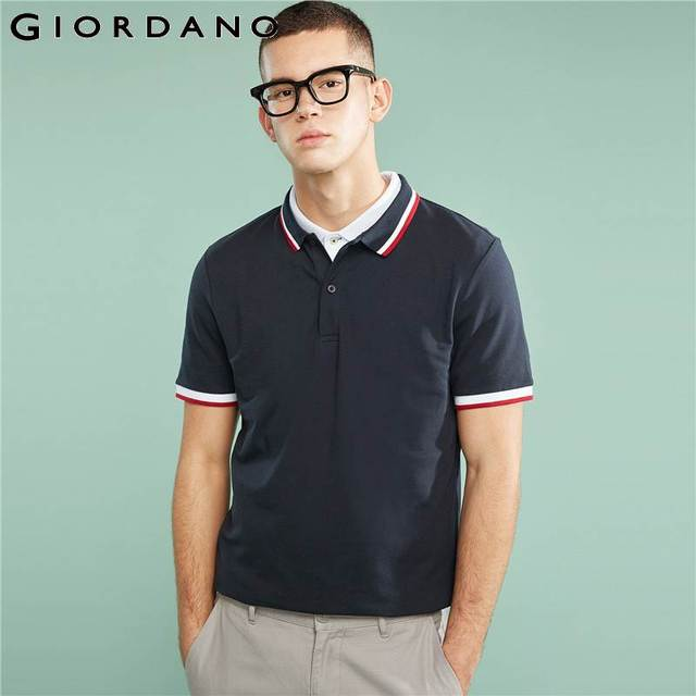 a0732e4c Giordano Men Slim Polo Pique Cotton Spandex T-shirt