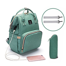 USB Baby Diaper Bags Large Nappy Bag Fashion Backpack Waterproof Mummy Bags Maternity Travel Backpack Nursing Handbag for Mom