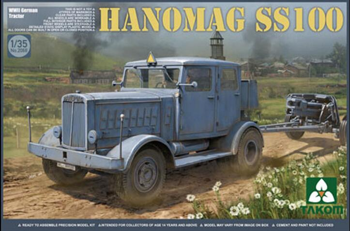 Takom 1/35 Hanomag SS100, WWII German Tractor #2068