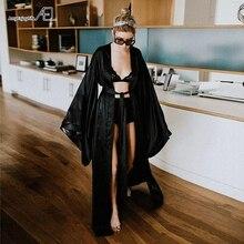 AEL Fashion Loose Soft Comfortable Night Robe Women Belt Bathrobe Womens Sleep Sexy Sleepwear Shift 2017 Select 3 Color