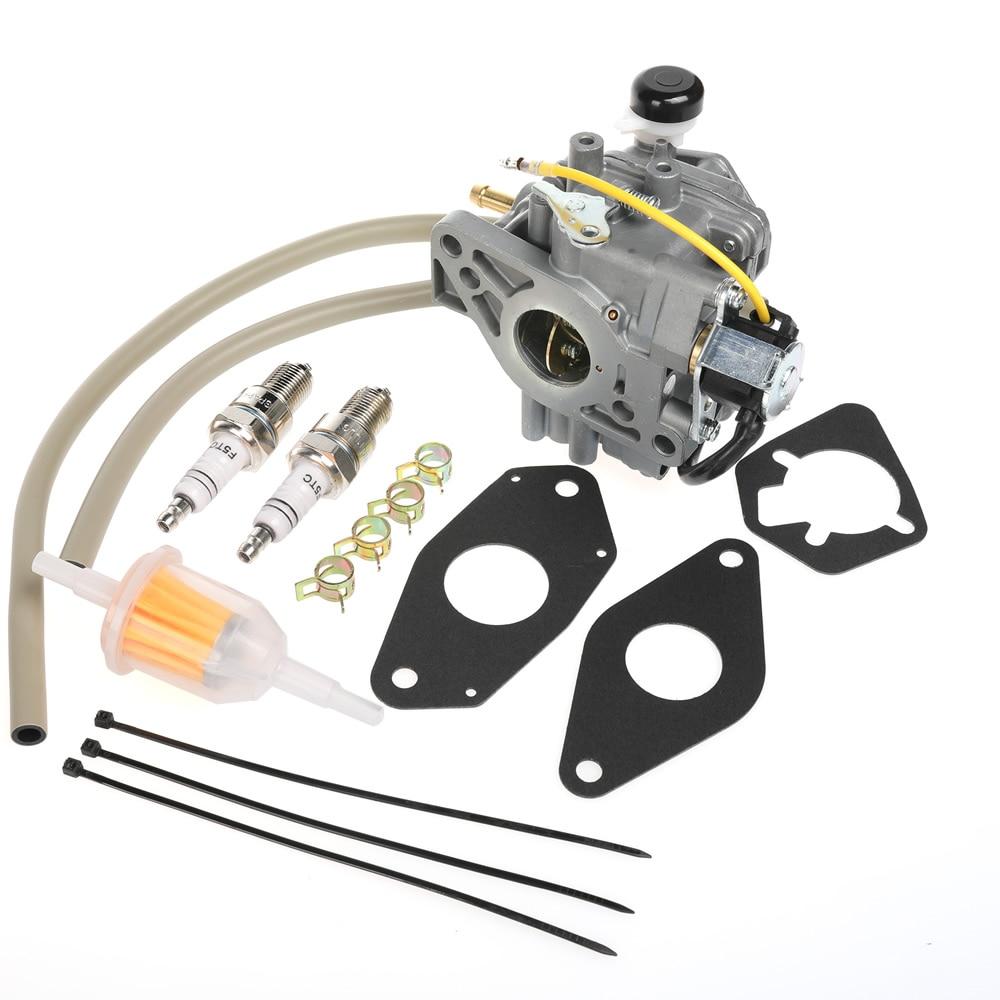 Kit carburateur avec joints convient pour moteurs Kohler (KSF) 24 853 32-S avec 3 joints, 1 X filtre, 2 X bougie d'allumage, clips