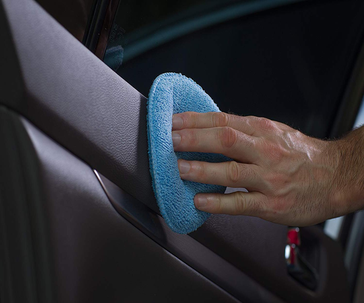 Image 2 - Soft  Car Wax Applicator Pad Polishing Sponge for apply and remove wax  2pcs   Home Cleaning #YL1-in Waxing Sponge from Automobiles & Motorcycles