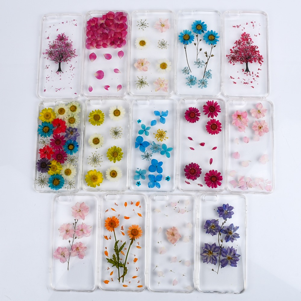 sports shoes 341bf d3013 US $5.54 10% OFF|For iPhone 6 Fashion Dried flowers phone case For iphone  6s chrysanthemum red rose real flower case full protector Funda ( XX12-in  ...