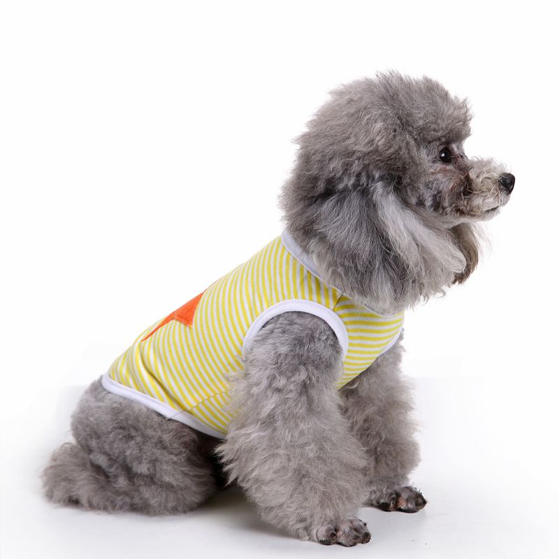 Hot Sale 2017 Summer Autumn Brand Design Pet Dog Striped Shirts Clothes Casual Shirts Popular Vest T-shirts dog small Clothing