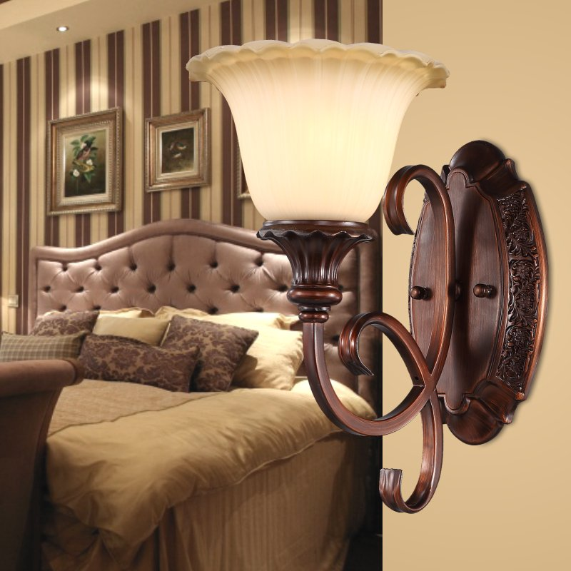 [lighting] bright bedside lamp lens headlight bedroom living room backdrop Lamps lighting corridors