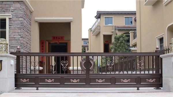 Home Aluminium Gate Design / Steel Sliding Gate / Aluminum Fence Gate Designs Hc-ag13