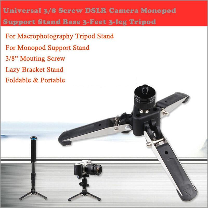 Universele 3/8 Schroef Dslr Camera Monopod Ondersteuning Stand Base 3-feet 3-leg Statief Voor Iphone 8 7 6 S Plus 5 S Samsung S8 Ontluchter Gps