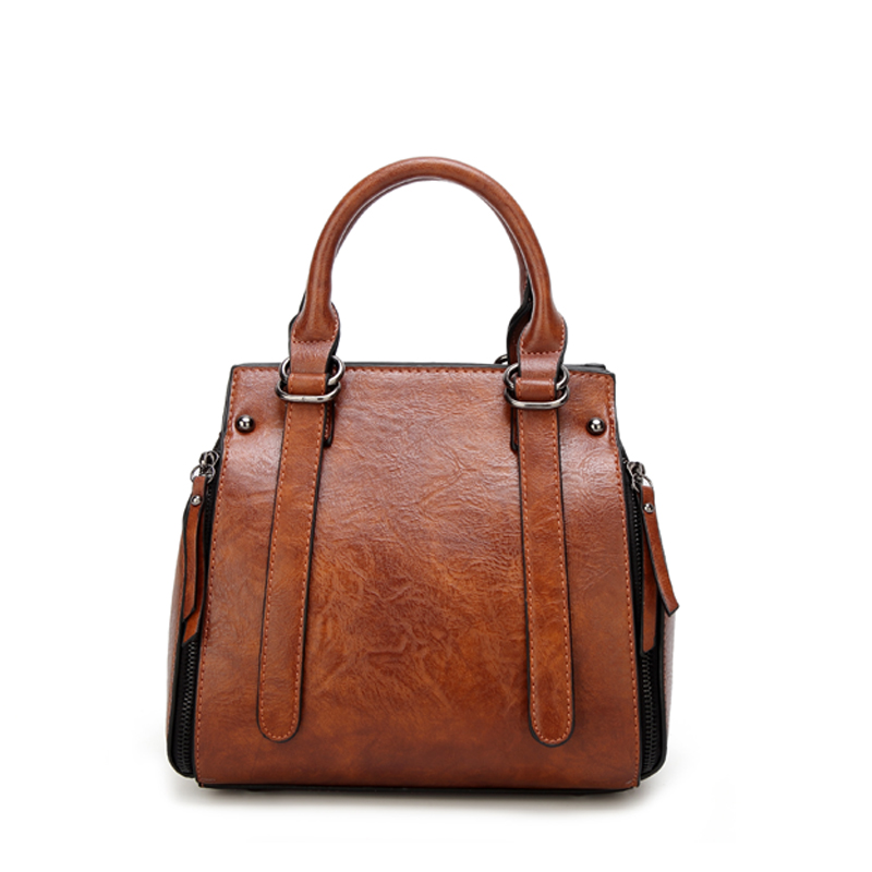 Tinkin PU leather women handbag vintage tote bag  panelled stone women shoulder bag messenger bag Islamabad