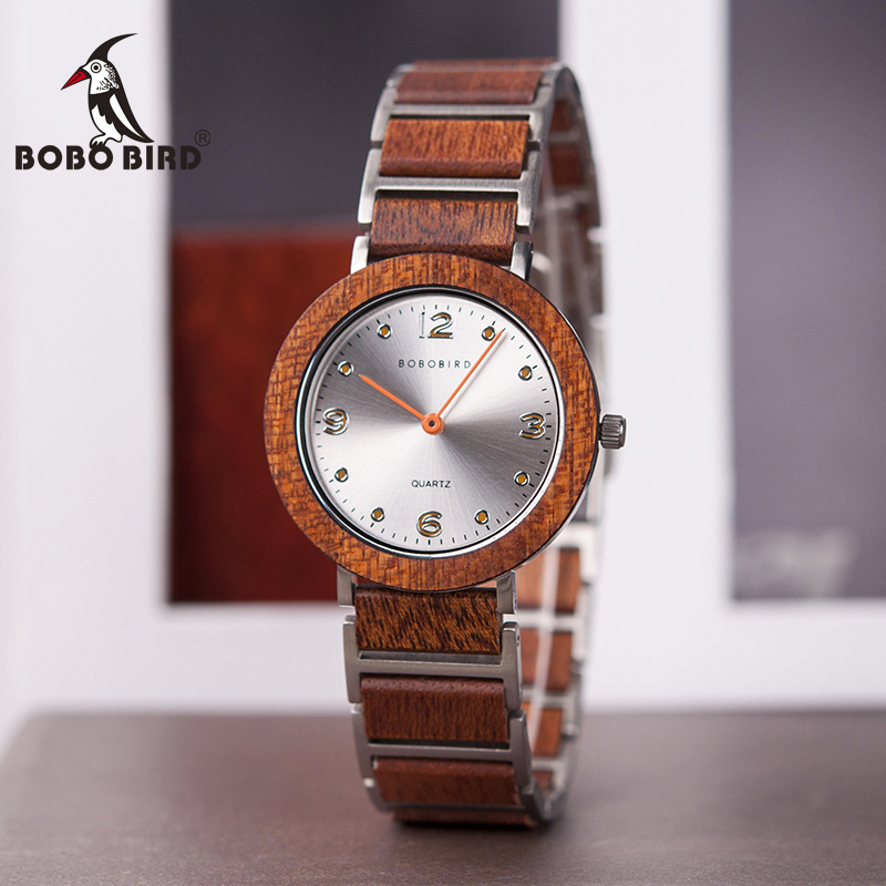montre homme 2020 BOBO BIRD Lovers Watch Ultra Thin 6mm Case Wood Quartz Wristwatches Timepiece with Gift Box V-S16