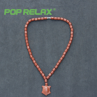 Pop Relax Korea Bio Germanium Tourmaline Stone Necklace Negative Ion Health Care Physiotherapy Long Life Turtle Energy Necklace