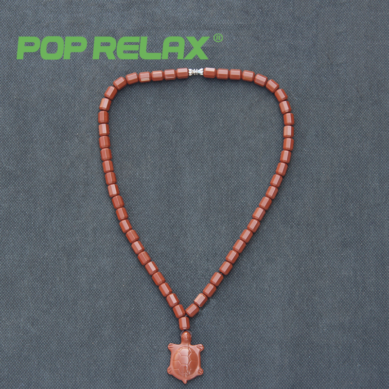 POP RELAX Korea bio germanium tourmaline stone necklace negative ion health care physiotherapy long life turtle energy necklace pop tower necklace