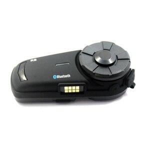 Image 3 - 2PCS 1000m Airide R2  Motorcycle Bluetooth Helmet Group Intercom Headset FM Radio MP3 Voice  Command Handsfree BT Interphone