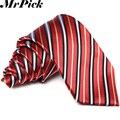 2016 nuevos hombres 8 cm a rayas corbatas moda Casual hombres de negocios corbatas T0002