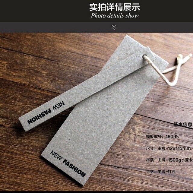 7f9fd464c Etiquetas de Roupas personalizado 1500G espessura cartão de Cimento  Pendurar Tags