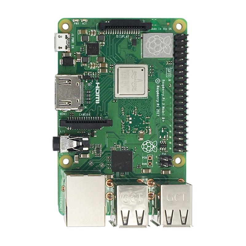 Nouveau 2018 D'origine Pi3 B + Raspberry Pi 3 Modèle B +, Plus La Pension 1 GB RAM LPDDR2 Quad- core Wifi Bluetooth dissipateur de chaleur ventilateur Cas