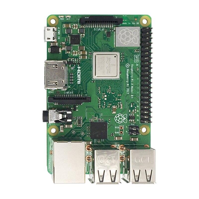 Nouveau 2018 Original Pi3 B + Raspberry Pi 3 modèle B + Plus carte 1 GB RAM LPDDR2 Quad-Core Wifi Bluetooth dissipateur de chaleur ventilateur de refroidissement