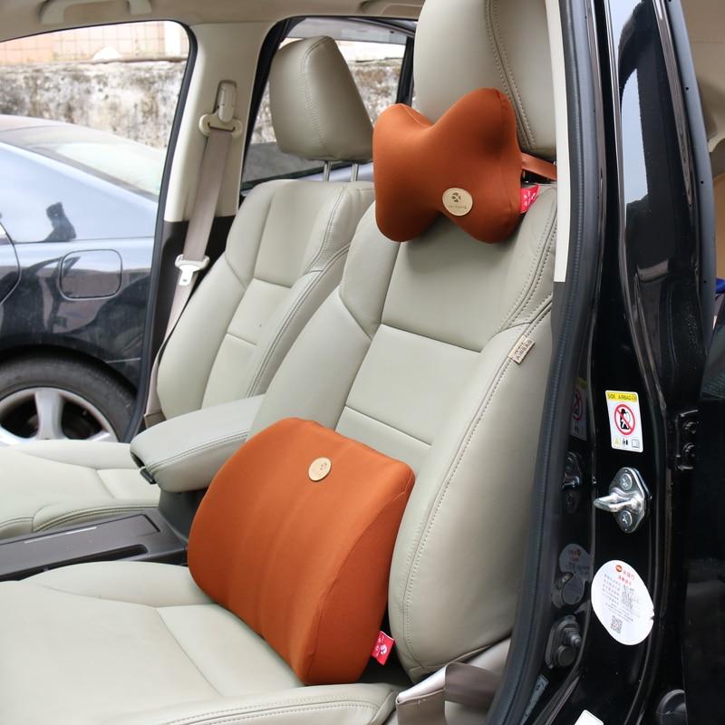 Leather Auto Car Headrest Pillow Memory