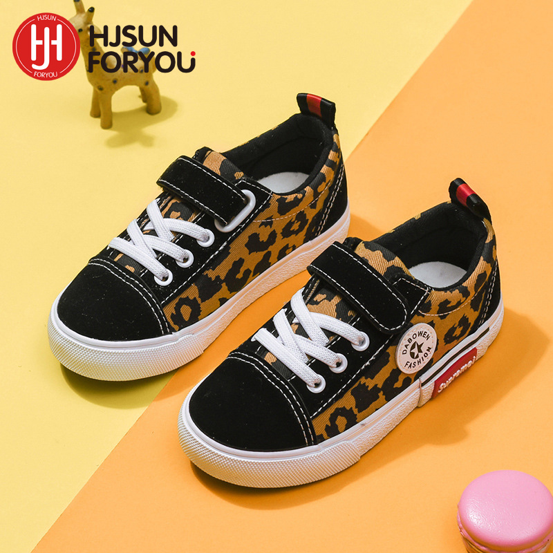 2019 New Children Shoes Girls Boys Leopard Canvas Kids Sneakers Tendon Casual Shoes Non-slip Rubber Sole Outdoor Sports Shoes2019 New Children Shoes Girls Boys Leopard Canvas Kids Sneakers Tendon Casual Shoes Non-slip Rubber Sole Outdoor Sports Shoes