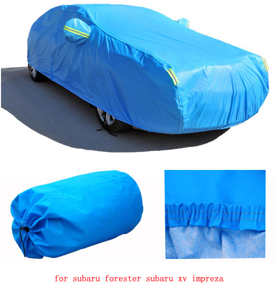 for subaru forester subaru xv impreza grey blue solid waterproof two layer car covers Dust snow anti uv cover of car four season