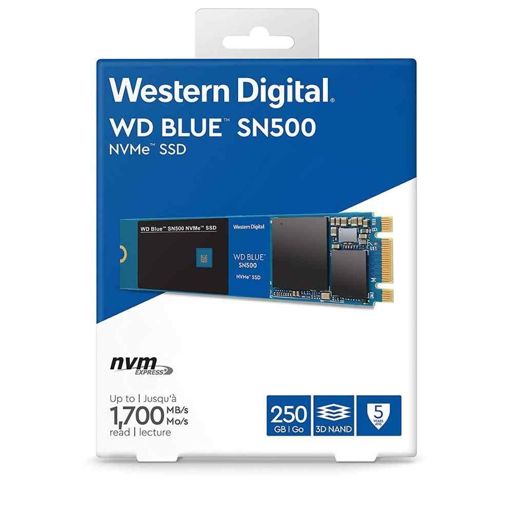 WESTERN DIGITAL WD BULE SN500 SSD 250GB M.2 2280 NVMe PCIe Gen3*2 Dual channel Internal Solid State Drive For PC Laptop NoteBook