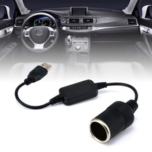 Mayitr 1pc 5V 2A USB To 12V 8W Cigarette Lighter Socket Male to Female Adapter Converter FOR Car