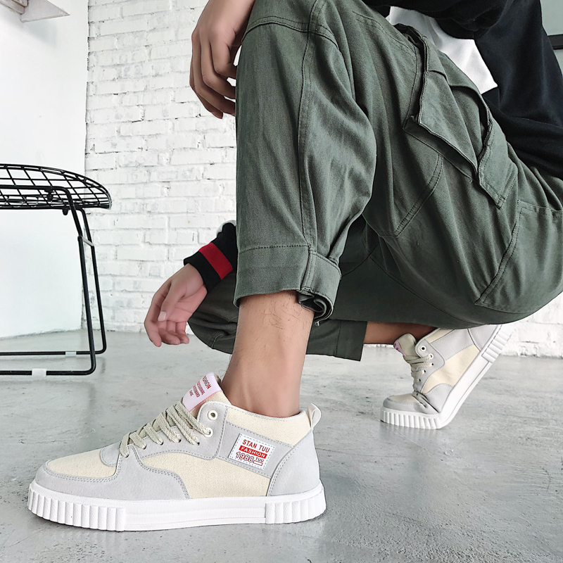 Men Shoes Lace-Up Fashion Shoes outdoor canvas breathable spring Casual Shoes comfortable Brand Men flats Sneakers shoes k3