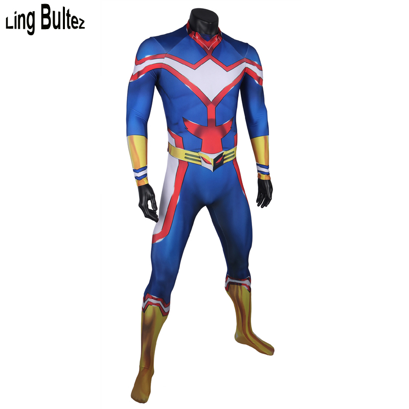 Ling Bultez High Quality Anime Hero Costume All Might Cosplay Costume  Muscle Shade All Might Spandex Suit For Man