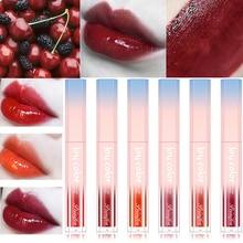 Hot Sweet Hot 6 Colors Lip Gloss Makeup Liquid Lipstick Mirror Surface Lip Tint Lasting Moisturizing Non-stick Cup Lip Glaze secret key sweet glam tint lip gloss milky pink