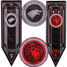 Game Of Thrones Banner Flag Stark Tully Targaryen Lannister Baratheon Martell Bolton Home Decoration