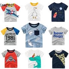 Loozykit/детская футболка для мальчиков летние футболки с короткими рукавами и принтом короны для маленьких девочек хлопковая детская футболка футболки с круглым вырезом, одежда для мальчиков