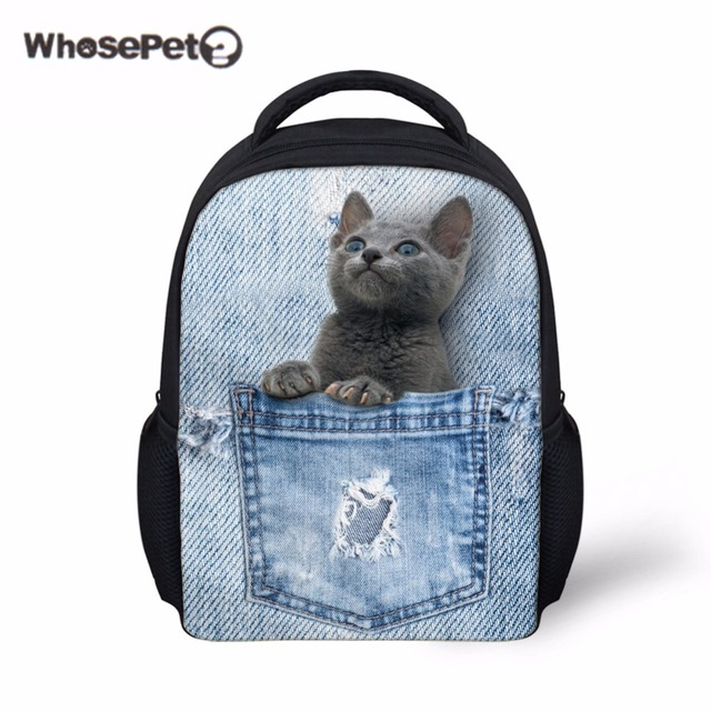 af4ac45aed WHOSEPET Cat Schoolbag Backpack Mini Student Book Bag for Boys Girls Kids  Children Schoolbags Cute Baby Bags Infantil Mochila