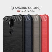 Carbon Fiber case for Asus Zenfone 5 Lite ZC600KL X017D Cover Soft Cover For Asus Zenfone 5 Lite ZC600KL Phone Case Fundas накладка силиконовая svekla для asus zenfone 5 lite zc600kl прозрачная
