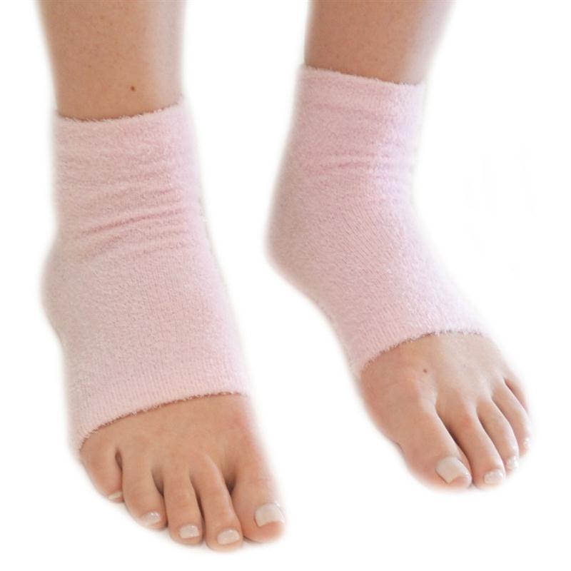 Spa Vented Moisturising Gel Heel Socks For Dry Hard Cracked Skin Moisturizing Arch Orthotic Tool Open Toe Comfy Recovery Socks