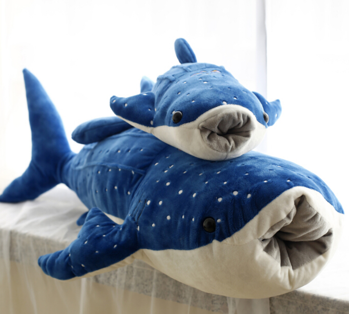 1pc 50cm blue whale shark sea animal cute soft plush doll hold pillow novelty creative stuffed toy gift for kids fancytrader giant plush blue whale toy big stuffed soft sea animals whale pillow doll kids best gifts