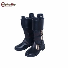 Cosplaydiy NieR:Automata YoRHa No. 9 Type S Shoes Adult Men Halloween Carnival Cosplay Game NieR:Automata Cosplay Accessories J5