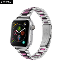 Fashion Strap for Apple watch band 42mm 38mm Stainless steel watchband correa 44mm 40mm link bracelet iwatch 4 3 2 1 Accessories