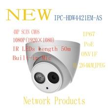 Бесплатная Sh IP Ping dahua безопасности IP Камера CCTV 4MP Full HD Малый ИК Камера с POE IP67 без логотипа IPC-HDW4421EM-AS